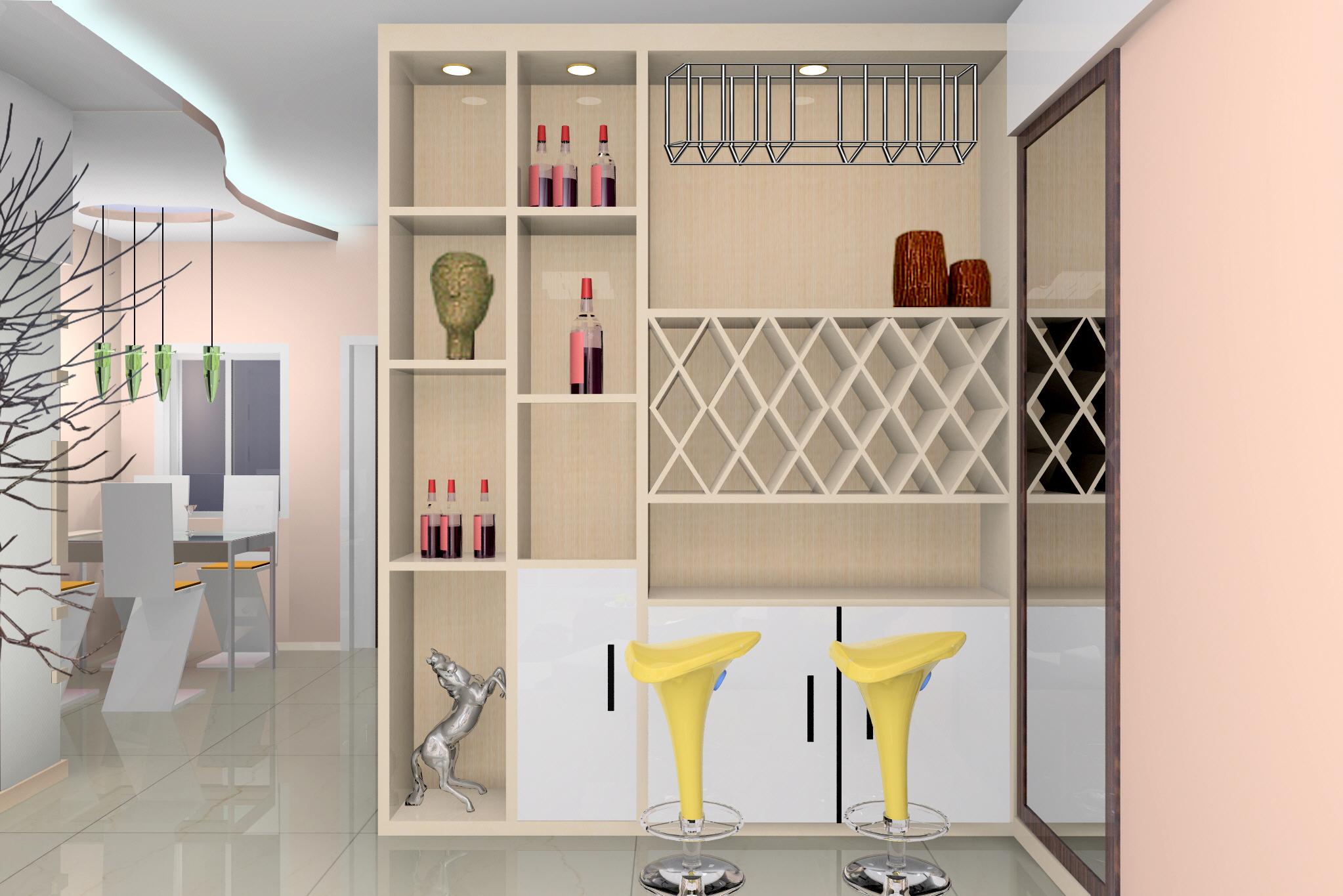 欧式酒柜设计图